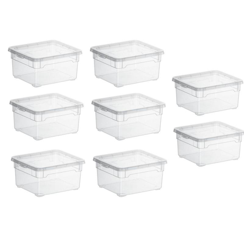 Lot De 6 Boites De Rangement L19xp16 5xh9cm Clear Box Sundis Shop