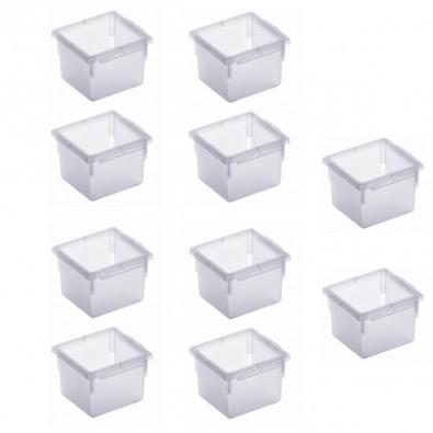LOT DE 10 organiseurs de tiroir en plastique 8x8xh.5cm
