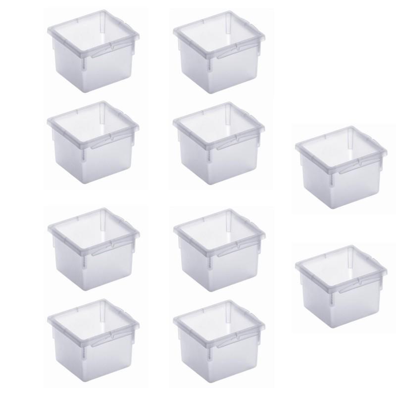 Lot De 10 Organiseurs De Tiroir En Plastique 8x8xh 5cm Sundis Shop