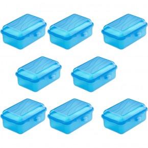 Lot de 8 FUNBOX T9 0.4L couleur bleu