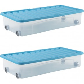 dessous de lit ventili 35L bleu