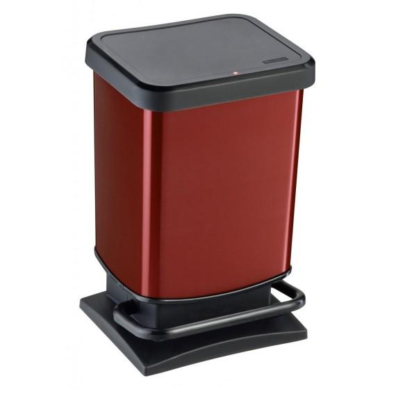 LOT DE 3 Poubelles à pédale 20L PASO Rouge