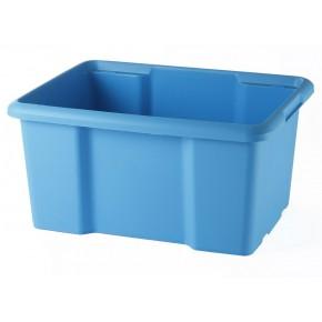Bac de rangement plastique 30L Couleur-Bleu