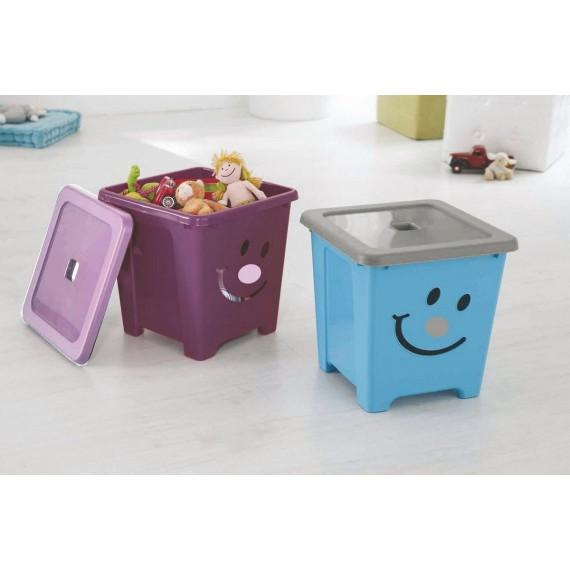Boîte 36L de rangement plastique HAPPYSTORE