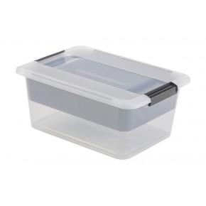Boîte de rangement à clips avec plateau intégré L39xP28,5xH16,5cm HOBBY KLIK