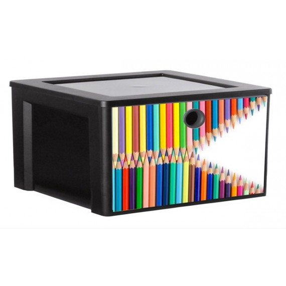 LOT DE 2 tiroirs A4 de rangement personnalisable MYDECOBOX Office