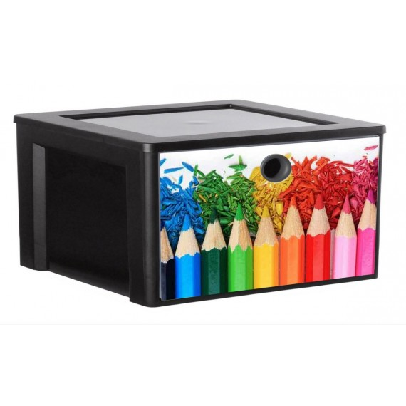 LOT DE 2 tiroirs A4 de rangement personnalisable MYDECOBOX Office