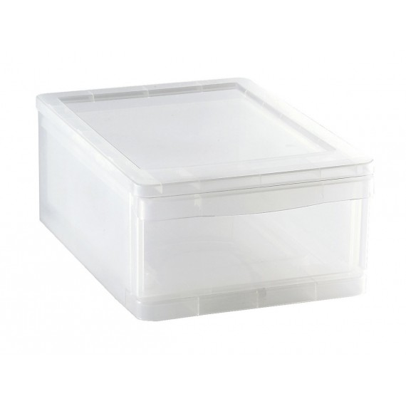 LOT DE 2 tiroirs de rangement L25,5xP35xH14cm CLEAR DRAWER