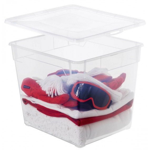 LOT DE 6 boîtes de rangement L40xP33,5xH33cm CLEAR BOX
