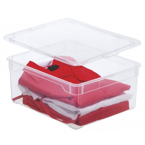 LOT DE 6 boîtes de rangement L40xP33,5xH17cm CLEAR BOX