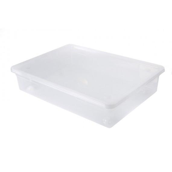 LOT DE 5 boîtes de rangement L78xP56xH17cm CLEAR BOX