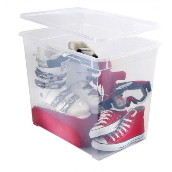 LOT DE 5 boîtes de rangement L55xP37,5xH43,5cm CLEAR BOX