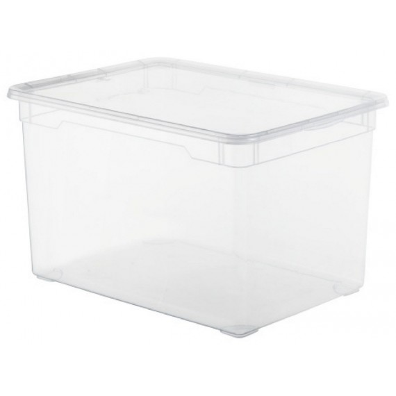 LOT DE 5 boîtes de rangement L55xP37,5xH31,5cm CLEAR BOX