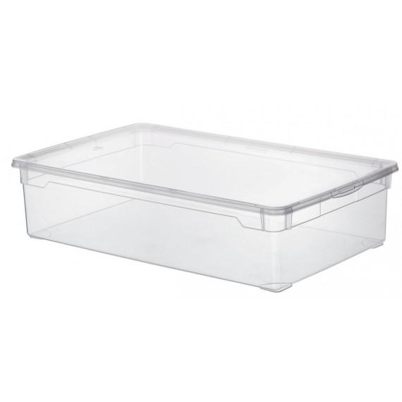 LOT DE 5 boîtes de rangement L70,5xP40xH16,5cm CLEAR BOX