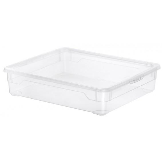 LOT DE 6 boîtes de rangement L40xP33,5xH8,5cm CLEAR BOX