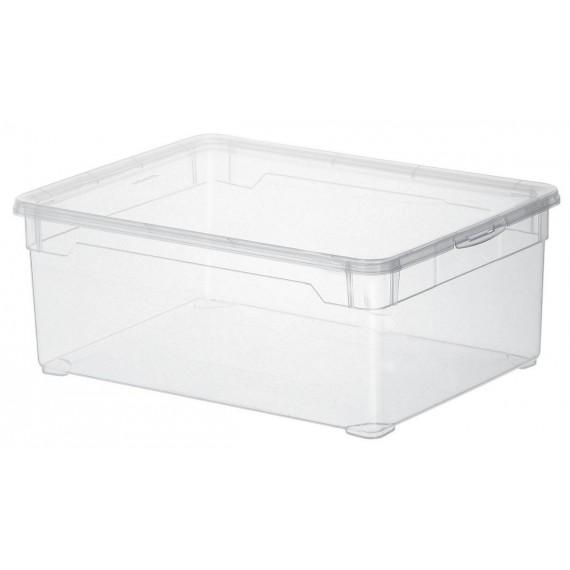 LOT DE 6 boîtes de rangement L36,5xP26,5xH14cm CLEAR BOX