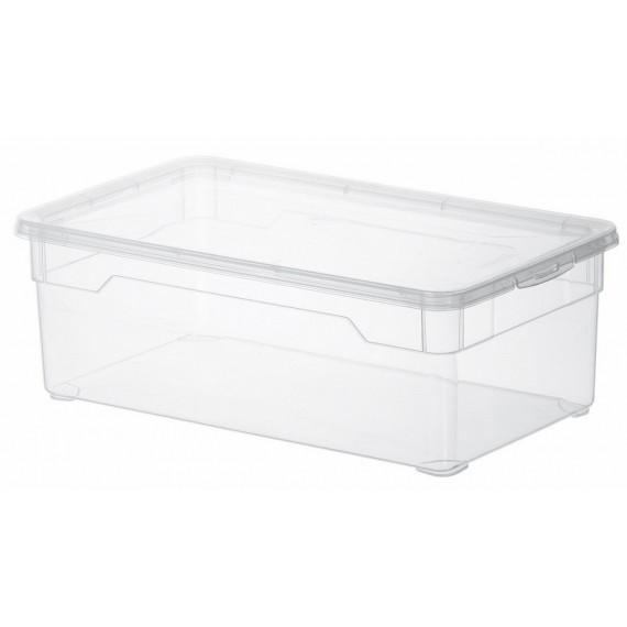 LOT DE 6 boîtes de rangement L33xP19xH11cm CLEAR BOX