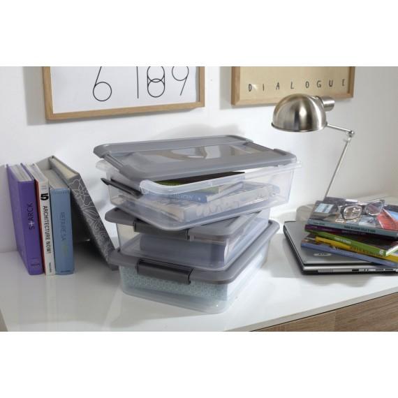 LOT DE 2 boîtes de rangement à clips L39xP28,5xH16,5cm KLIKER BOX