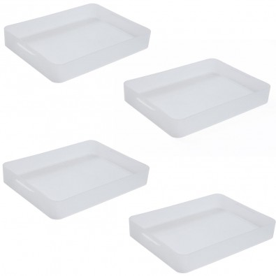 LOT DE 4 Boites en plastique Pure Box A4, L.32.2xP.23xH.4.7 cm