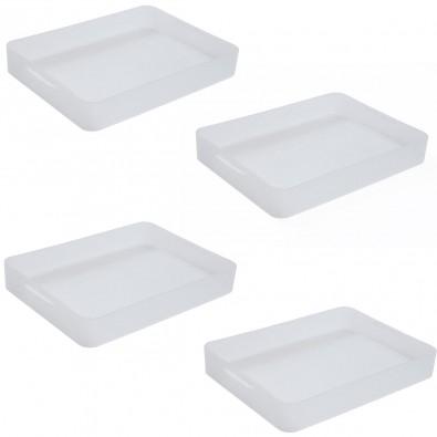 LOT DE 4 Boites en plastique Pure Box A4, L.32.2xP.23xH.4.7 cm
