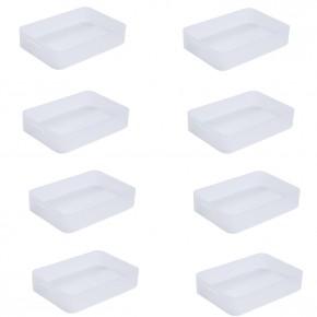 LOT DE 8 Boites en plastique Pure Box A5, L.24,2 x l.15,5 x h.4,7 cm